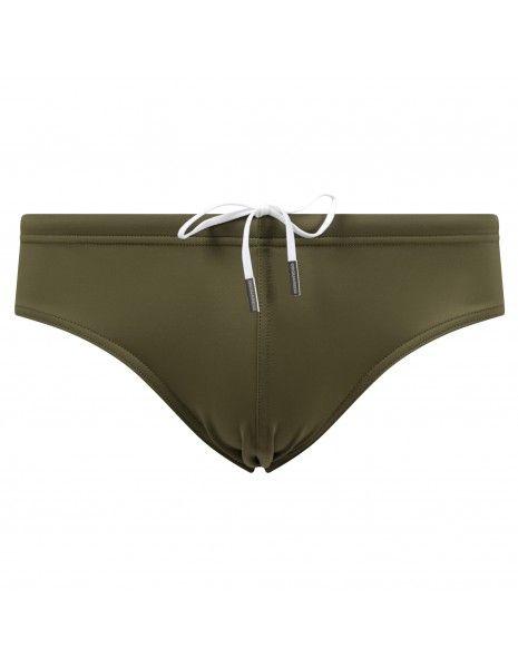 Dsquared2 - Slip mare verde con stampa logo e coulisse per uomo | d7b312910 304