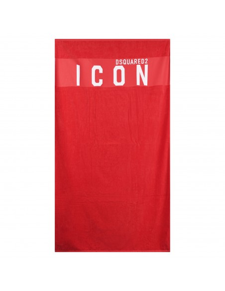 Dsquared2 - Telo mare rosso con stampa logo per uomo   d7p003480 613