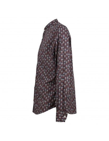 Portofiori - Camicia coreana multicolore stampata per uomo | primula ts0779 001