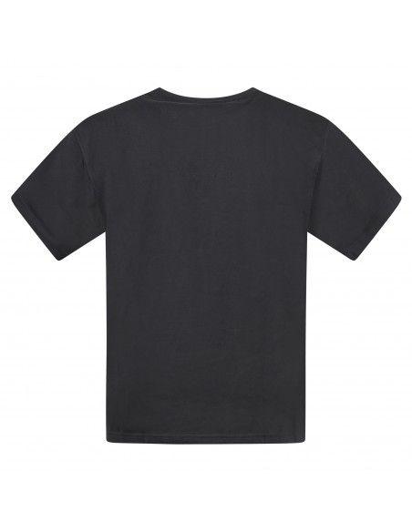 Adidas Originals - T-shirt nera manica corta con patch logo per uomo | gn3394