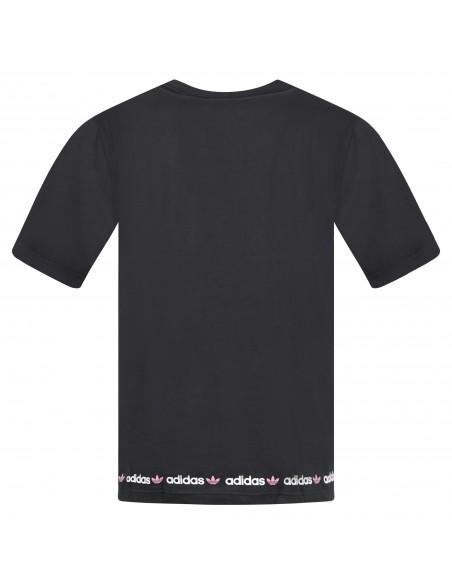 Adidas Originals - T-shirt nera manica corta con logo per uomo | gn7128