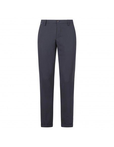 AT.P.CO - Pantalone blu tasca a filo in tessuto tecnico per uomo   a221sasa45
