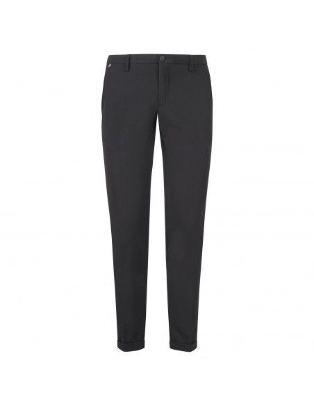 AT.P.CO - Pantalone nero tasca a filo in tessuto tecnico per uomo | a221sasa45