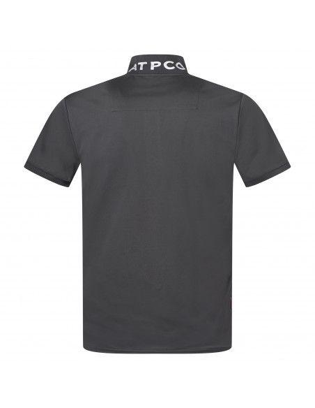 AT.P.CO - Polo nera manica corta con logo per uomo | a225p23 pp01 999