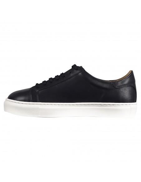 Antica Cuoieria - Sneakers blu basse pelle per uomo | 22310-s-vf2