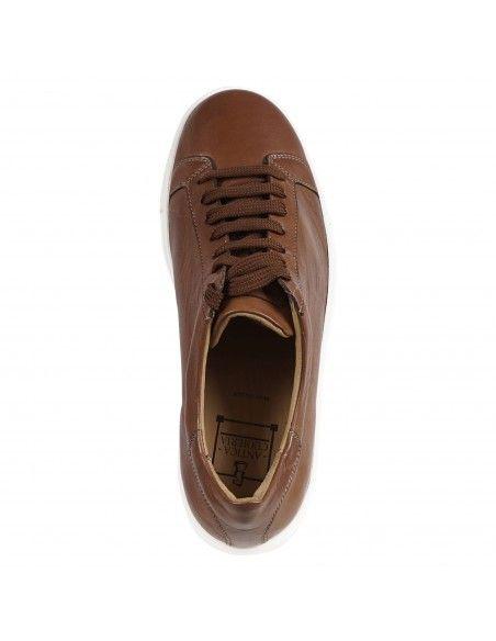 Antica Cuoieria - Sneakers cuoio basse pelle per uomo | 22310-s-vf2