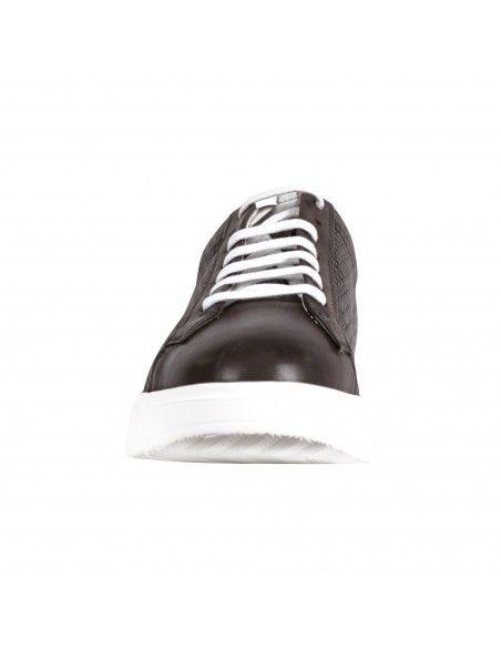 Antica Cuoieria - Sneakers marrone lavorazione intreccio per uomo | 22031-2-v55