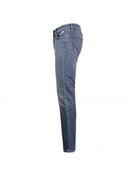 Roy Roger's - Jeans 6 tasche denim medio slim con rotture per uomo |