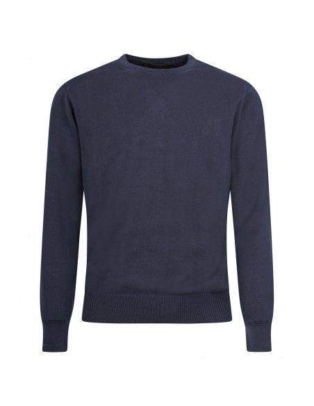 Blu Cashmere - Maglione girocollo blu per uomo | girocollo uomo eu201201