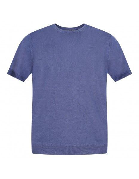 +39 Masq - T-shirt azzurra in maglia di cotone a manica corta per uomo |