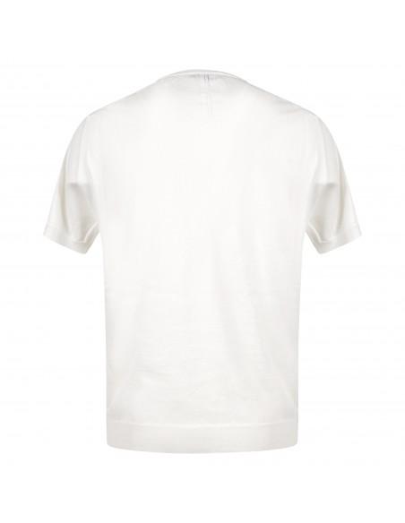 +39 Masq - T-shirt bianca in maglia di cotone a manica corta per uomo |