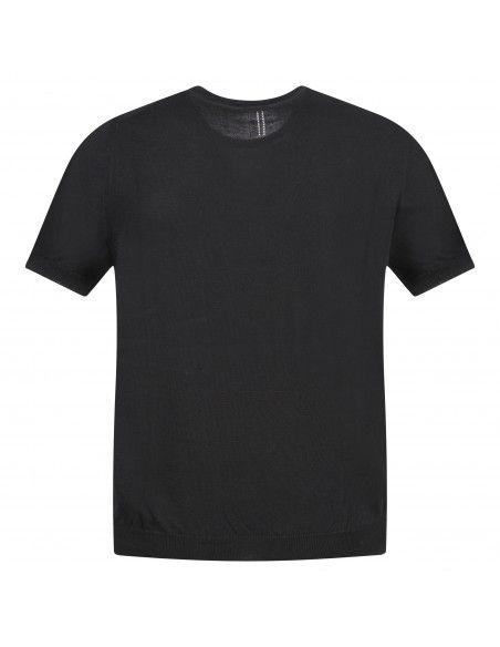 +39 Masq - T-shirt nera in maglia di cotone a manica corta per uomo |