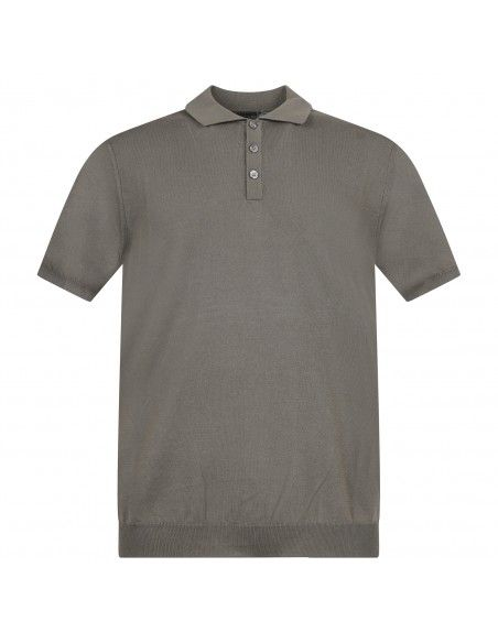 +39 Masq - Polo verde in maglia di cotone a manica corta per uomo |