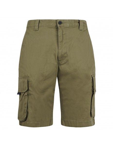 Tommy Jeans - Bermuda verde in cotone con tasconi laterali per uomo  