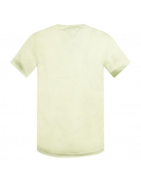 Tommy Jeans - T-shirt verde manica corta con stampa logo per uomo  