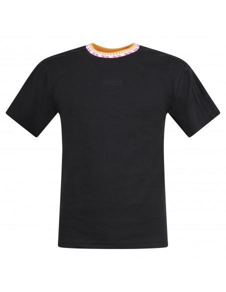 Adidas Originals - T-shirt nera manica corta con logo per uomo | gn5627