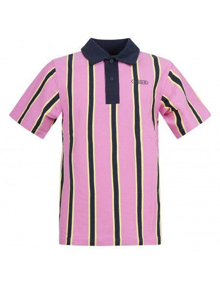 Adidas Originals - Polo multicolor manica corta rigata con logo per uomo |