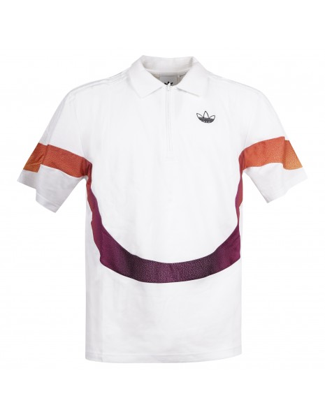 Adidas Originals - Polo bianca manica corta con logo per uomo | gn2461