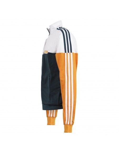 Adidas Originals - Felpa multicolore con zip e logo per uomo   gn8618