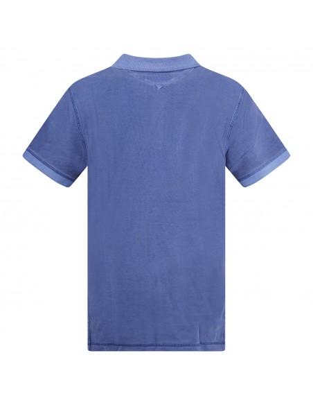 Tommy Jeans - Polo azzurra manica corta con patch logo per uomo | dm0dm10586c65