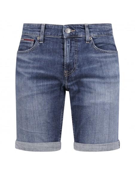 Tommy Jeans - Bermuda jeans 5 tasche denim medio slim per uomo | dm0dm11078l8q