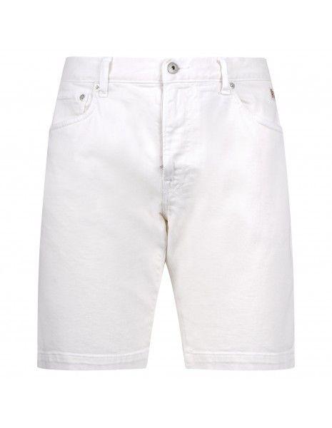 Roy Roger's - Bermuda jeans 5 tasche bull bianco per uomo |