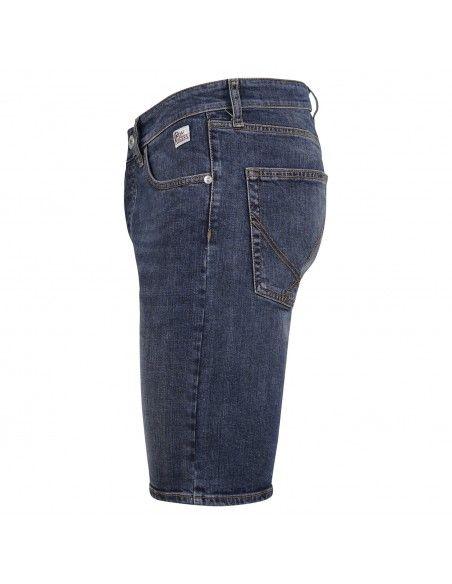 Roy Roger's - Bermuda jeans 5 tasche denim medio slim per uomo |