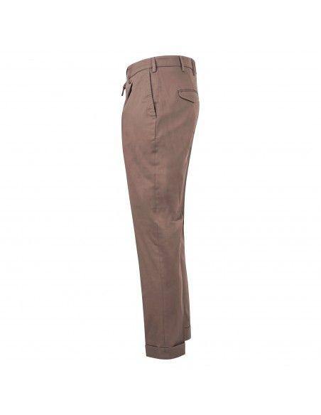 Barbati - Pantalone marrone tasca a filo con pinces per uomo   p-dodo/lc 121391