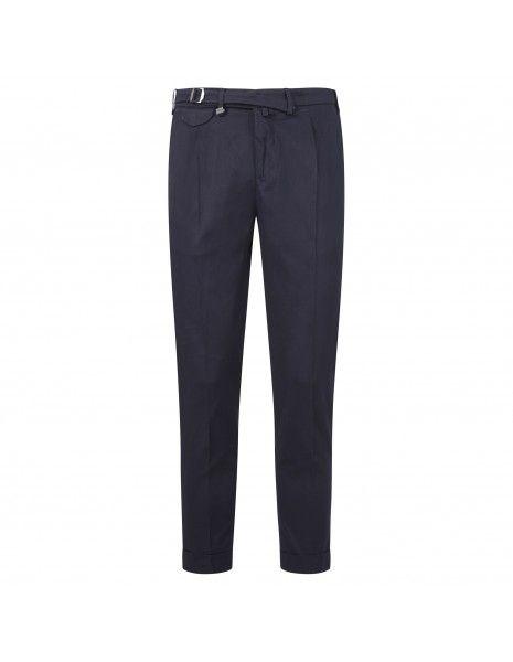 Barbati - Pantalone blu tasca a filo con pinces per uomo | p-dodo/lc 121391 08