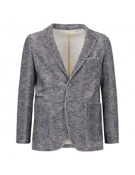 Barbati - Giacca blu check in jersey per uomo | g-martin/sf121751 1534