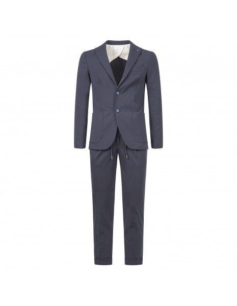 Barbati - Abito blu in jersey sfoderato per uomo   abgregoryd7sf121761 89