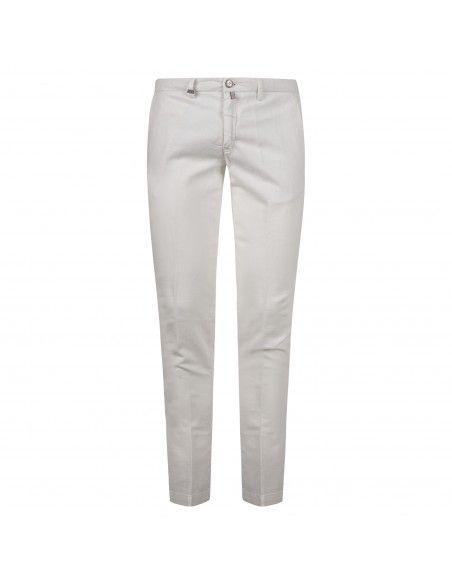 Barbati - Pantalone bianco tasca a filo per uomo | p-ike/s 121271 150