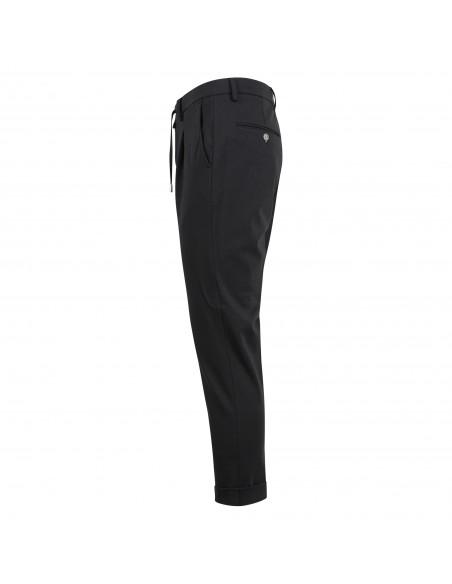 Barbati - Pantalone nero con elastico e coulisse per uomo   p-gregory/c 121761