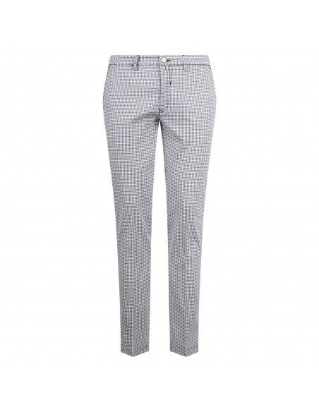 Barbati - Pantalone blu tasca a filo con fantasia a quadri per uomo |
