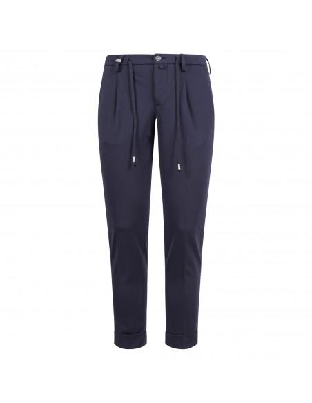Barbati - Pantalone blu con elastico e coulisse per uomo | p-gregory/c 121761 89