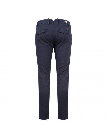 Officina36 - Pantalone blu tasca a filo con ricami per uomo | 02664008291 2664k