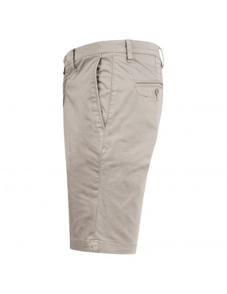 Barbati - Bermuda beige in cotone tasca a filo per uomo | b-kap/s 121031 23