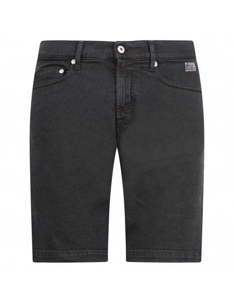 Roy Roger's - Bermuda jeans 5 tasche bull nero per uomo | p21rru047d3901692black