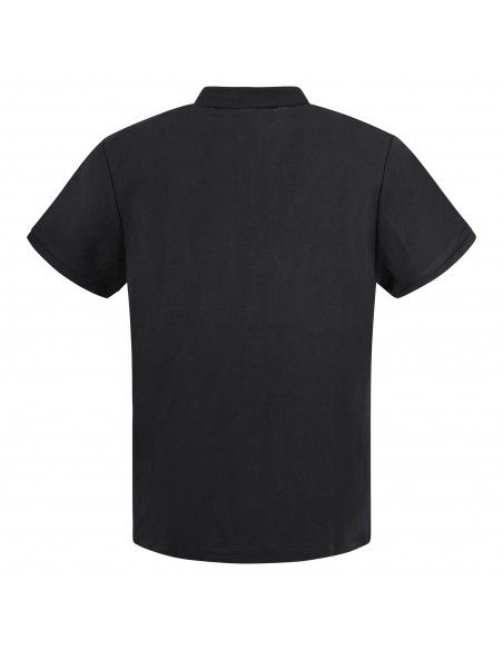 Museum - Polo nera manica corta in jersey per uomo | ricky shirt