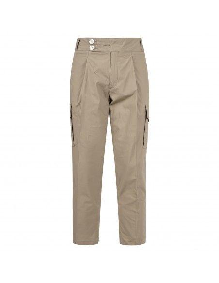 Havana & Co - Pantalone beige tasca a filo con tasconi laterali per uomo |