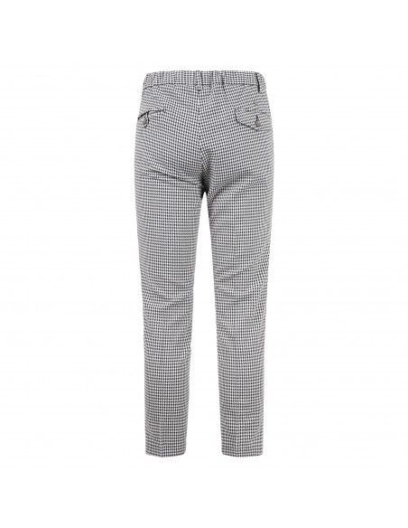 Havana & Co - Pantalone blu tasca a filo a microfantasia per uomo | h7760