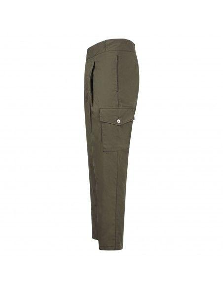 Havana & Co - Pantalone verde tasca a filo con tasconi laterali per uomo  