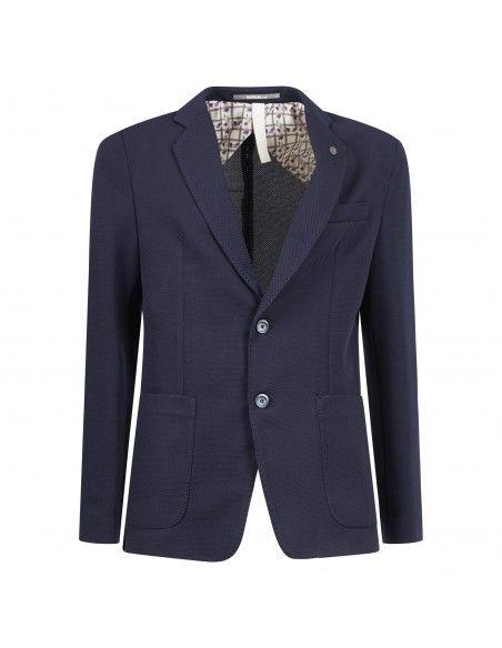 Havana & Co - Giacca blu in jersey per uomo | h2396j g5037ej 50