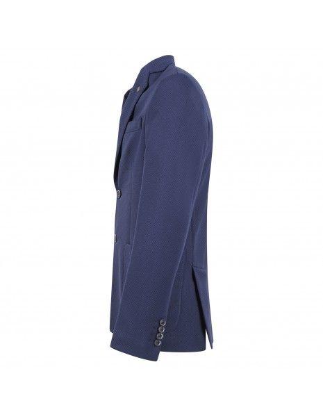Havana & Co - Giacca blu in jersey per uomo | h2396j g5037ej 51