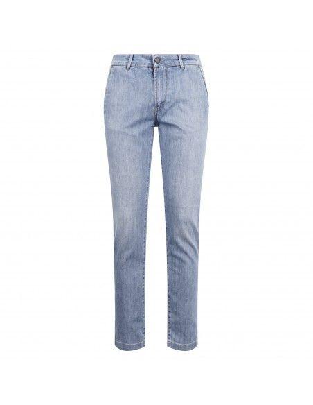 Camouflage - Jeans denim chiaro tasca a filo slim per uomo | chinos rey 17 zip