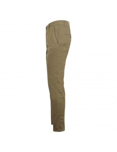 Camouflage - Pantalone verde tasca a filo in tessuto tecnico per uomo | chinos