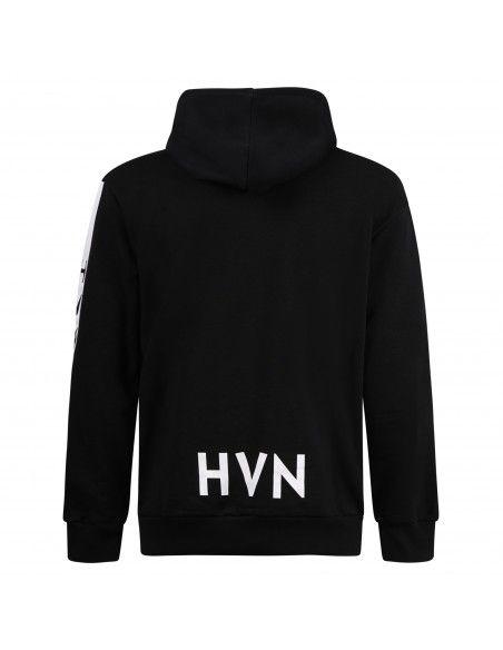 Havana & Co - Felpa nera con cappuccio e logo per uomo | h0637 m5120 80