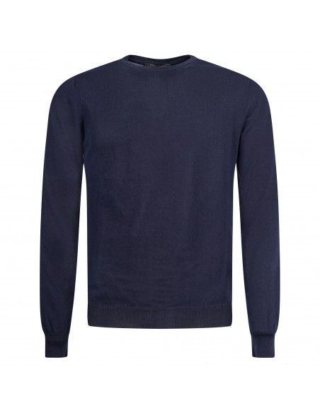 +39 Masq - Maglione girocollo blu per uomo | masq6000t-14-00 650