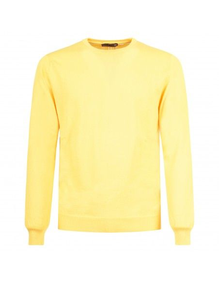 +39 Masq - Maglione girocollo giallo per uomo | masq6000t-14-00 280
