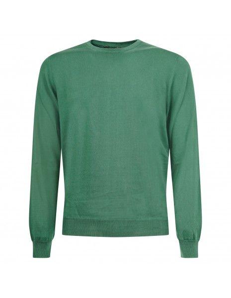+39 Masq - Maglione girocollo verde per uomo   masq6000t-14-00 450